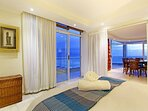 Second bedroom with ocean views and direct access to the large balcony.