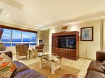 Large and comfortable living area with satellite TV.