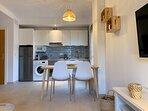 Salón - Living Room and Open Plan Kitchen