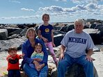 Grammy and Grampy with the grandkids on beautiful Hampton Beach!