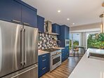 Stainless appliances and fixtures