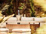 Toskana Terrasse & Summer Lounge mit BBQ (in weiterer Unterkunft von uns in der gleichen Straße).