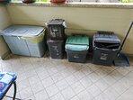 Raccolta differenziata:Umido, Carta, Vetro, Plastica e Residuo