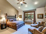 Grand Master Bedroom Suite with King Bed, Smart TV/DVD, Fireplace, and Large Private Bath