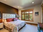 Lower Level Master Bedroom 2 with a King Bed, Smart TV/DVD and Private Bath