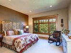 Lower Level Master Bedroom 3  with a King Bed and Private Bath