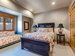 Upper Level Bedroom 4 with a Queen Bed and a Twin Day Bed, and a Shared Bath