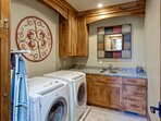 Laundry Room with Full Size HE Washer/Dryer on Main Level