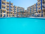 Two large swimming pools ensures that you can freely find our own spot and swim your laps in peace.