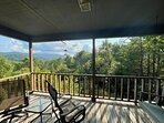 back deck and views