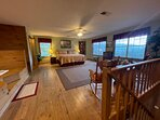 King Bedroom on Second Level w/Great Mountain Views and Bedside Jetted Jacuzzi Tub